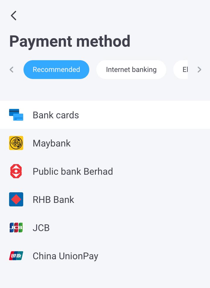 OT Payment Method 1